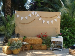 photocall boda jardin de abril