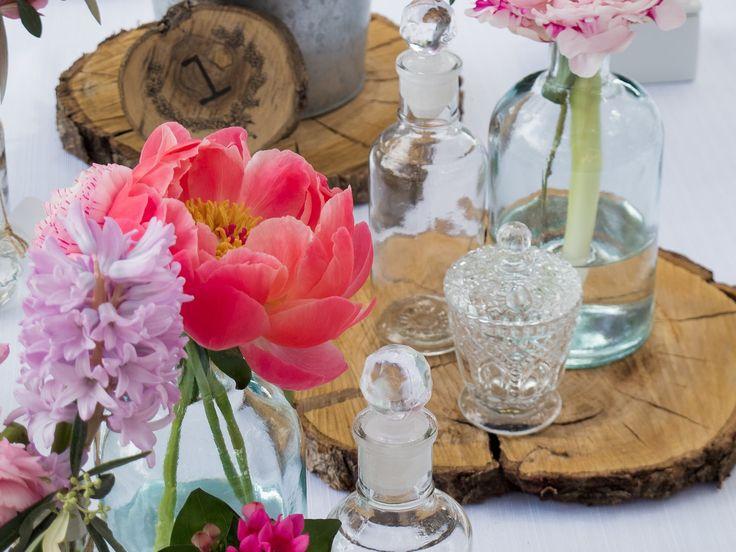 estilo rustico centro de mesa