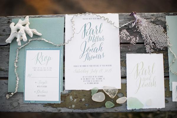 invitaciones de boda ambientadas en la playa