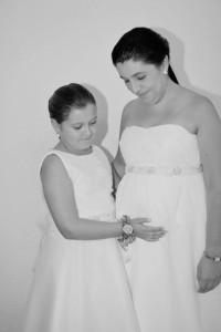 vestido de novia a medida para embarazada
